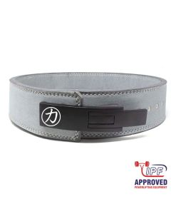 "Strengthshop 10mm Lever Belt 3"" Wide Grey - IPF Approved"