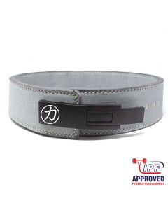 """Strength Shop 10mm Lever Belt 3"""" Wide Grey - IPF Approved Size S ONLY"""