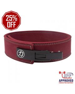 """Strength Shop 10mm Lever Belt 3"""" Wide Maroon - IPF Approved"""