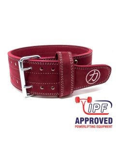 Strengthshop 10mm Double Prong Buckle Belt - Maroon - IPF APPROVED