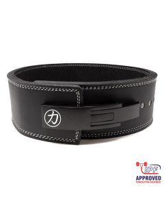 Strengthshop 10mm Lever Belt Embossed Logo Black - IPF Approved
