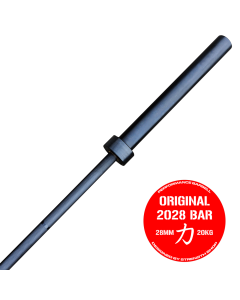 Strength Shop Original 2028 Olympic Bar - Black E-Coat