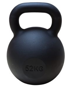 Kettlebell, Black Powder Coated, 52kg - PREORDER FOR DISPATCH BY 19TH AUGUST