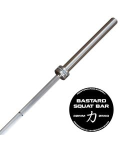 Strength Shop Bastard Squat Bar With Chrome Shaft - Fully Knurled