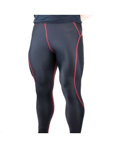Strength Shop Compression Leggings/Tights - Black/Red