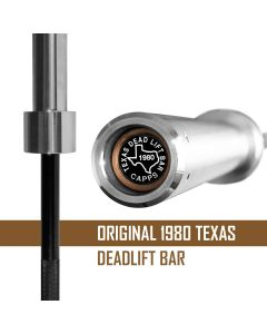 Original Texas Deadlift Bar By Buddy Capps - Now with Chrome Coated Sleeves