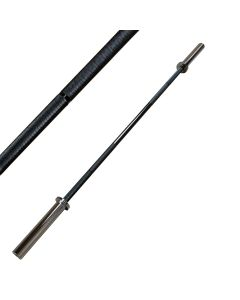Strength Shop Garage Strength Bar - Black Zinc Coated Shaft with Chrome Sleeves