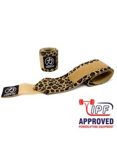 Strength Shop Zeus Wrist Wraps - Leopard - IPF APPROVED