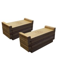 Premium Wooden Deadlift Blocks (Stackable)