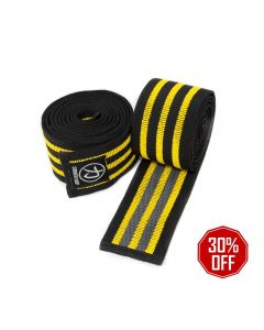Strength Shop Ultra Grip Knee Wraps - with rubber for extra grip