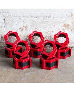 Strength Shop Olympic Flip Lock Collars Red - PACK OF 5 PAIRS