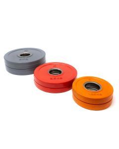 Powerlifting Rubber Plate Package - 2 x 5kg, 2 x 2.5kg, 2 x 1.25kg - Coloured