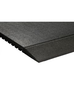 Tapered Rubber Gym Mat Edge - 30mm (1000mm x 200mm)