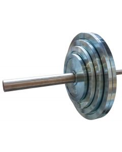 150kg Olympic Extra Thin Competition Style Steel Plate Set - Zinc Plated